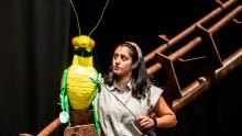 Serin Ibrahim in rehearasal for Pinocchio at Greenwich Theatre (credit Lidia Crisafulli)