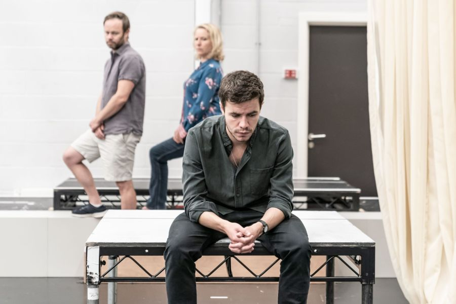 004 Oliver Johnstone in Cat on a Hot Tin Roof rehearsals. Photo by Marc Brenner