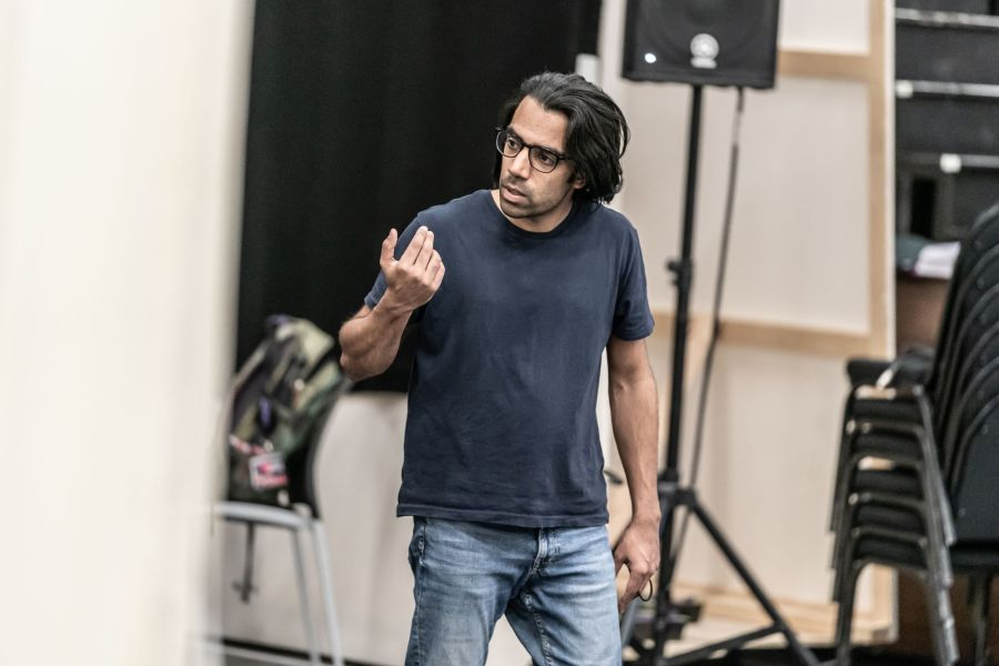 024 Anthony Almeida in Cat on a Hot Tin Roof rehearsals. Photo by Marc Brenner