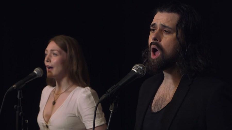 Adam Bayjou and Lucy O'Byrne perform Les Misérables mash up