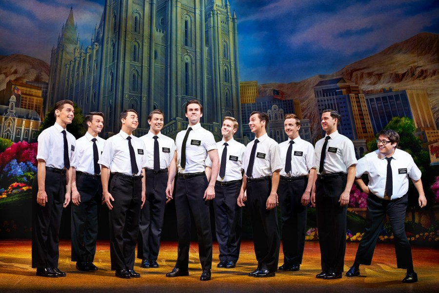 The Book Of Mormon cast. Picture: Paul Coltas