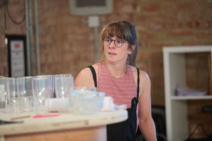 Joanna Horton in rehearsals for A Place for We By Archie Maddocks at the Park Theatre. Directed by Michael Buffong.