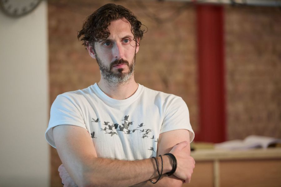 Blake Harrison in rehearsals for A Place for We By Archie Maddocks at the Park Theatre. Directed by Michael Buffong.