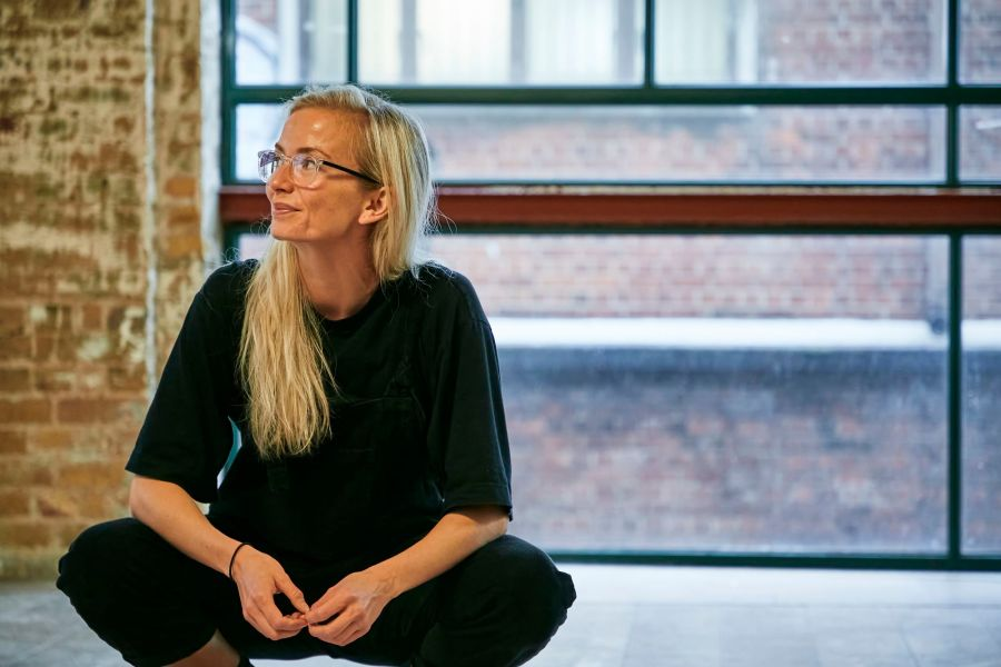 Sophie Melville (Nina) in rehearsal for Mum. Photo by The Other Richard. (02)