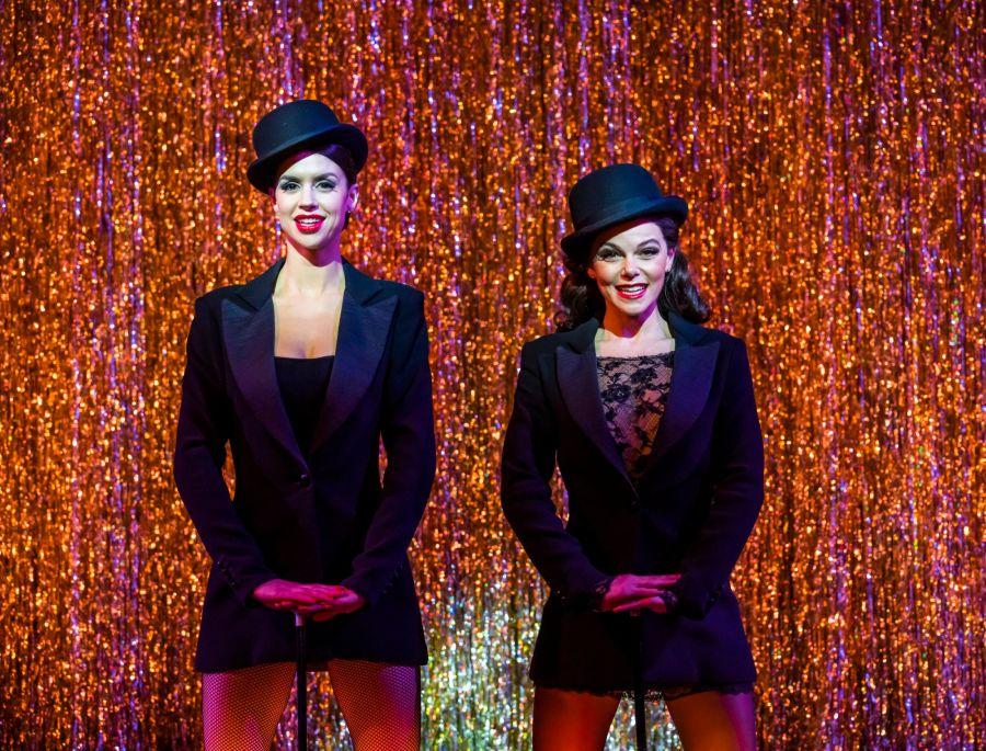 Djalenga Scott 'Velma Kelly' and Faye Brookes 'Roxie Hart'. Photo Tristram Kenton