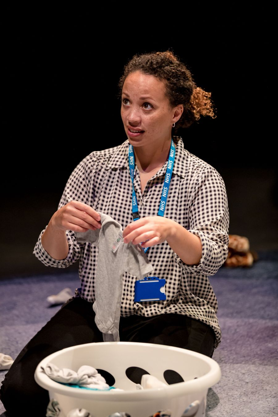 Cat Simmons (Jackie) in Mum by Morgan Lloyd Malcolm. Photo by The Other Richard.