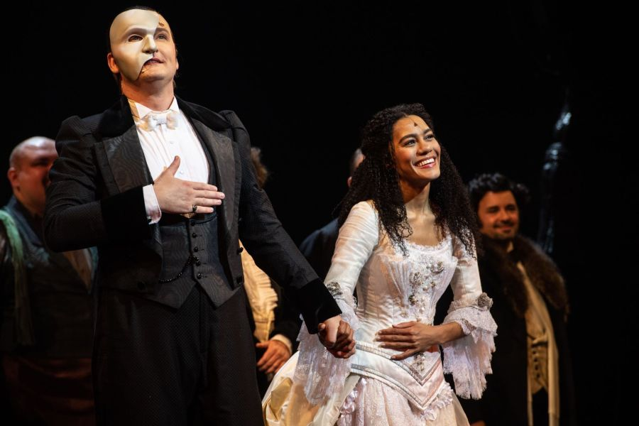 THE PHANTOM OF THE OPERA 35th Anniversary. Killian Donnelly and Lucy St Louis. Photo Craig Sugden