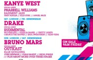 Kanye West, Drake, Outkast, Bruno Mars, Rudimental and more for Wireless Festival