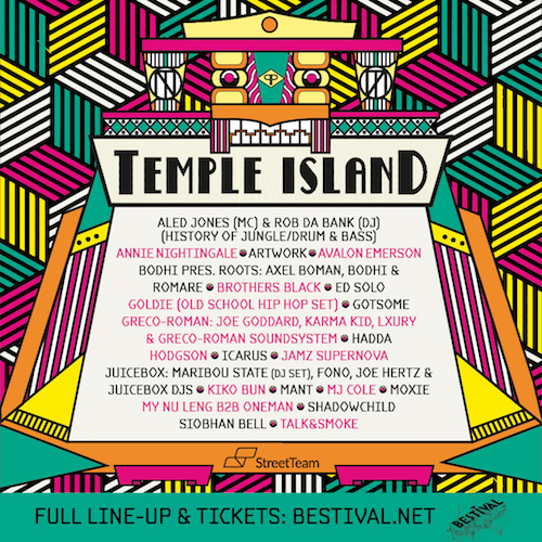 Bestival 2016 Temple Island lineup