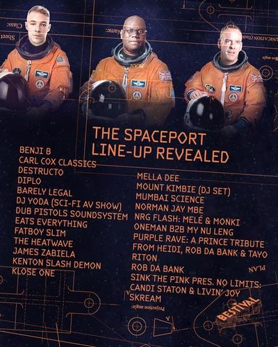 Bestival 2016 Spaceport lineup
