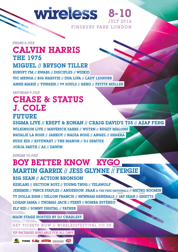 Wireless Festival 2016 lineup May update