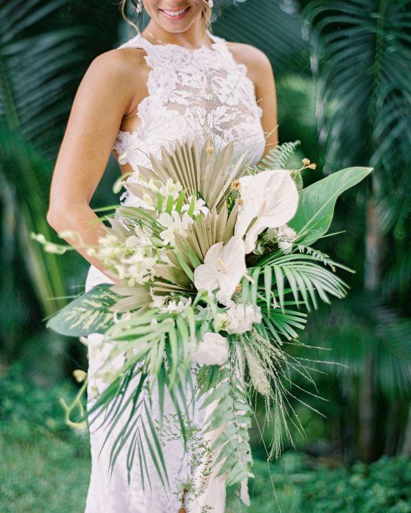 Cascading Tropical Bouquet