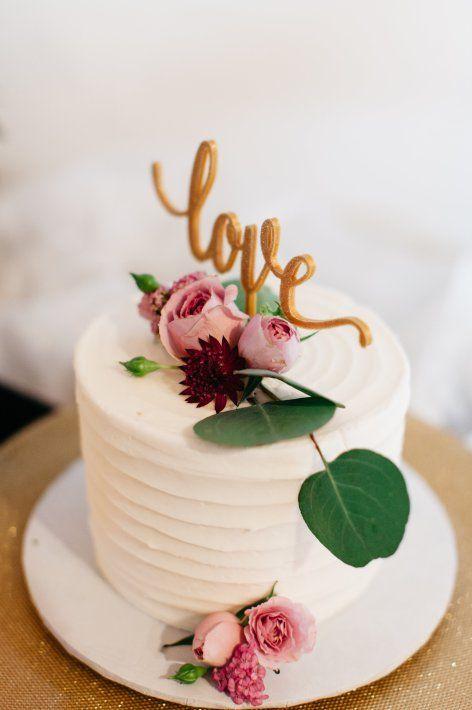 One Tier Wedding Cake