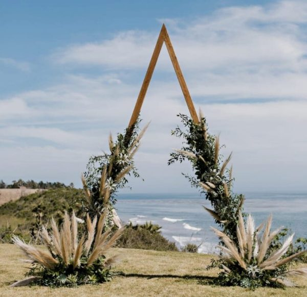 Rustic Triangular Ceremony Arch