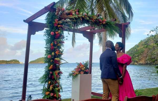 Rustic Four Post Ceremony Arch