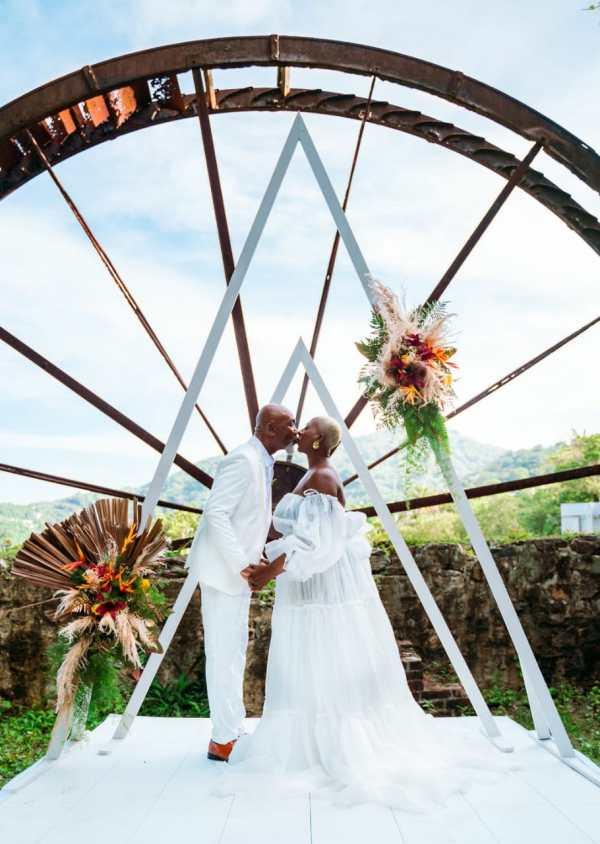 Triangular Ceremony Arch