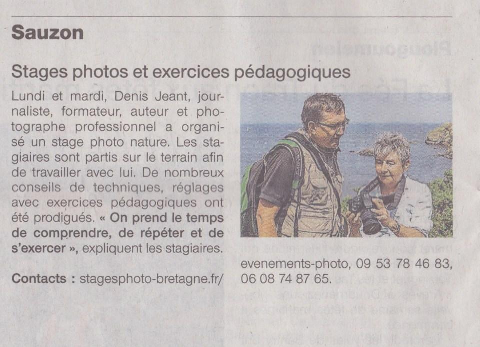Page Ouest-France du 22 juillet 2016