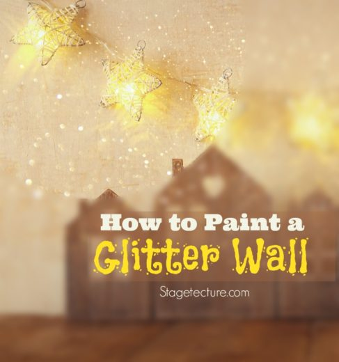 Wall Art Tutorial How To Use Glitter Wall Paint