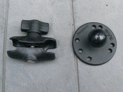 The arm and round base plate