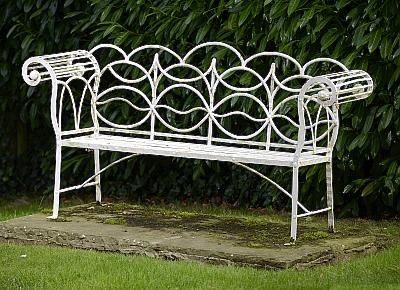 Antique Regency garden bench