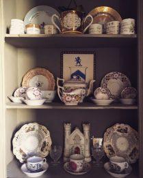 Antique porcelain on display