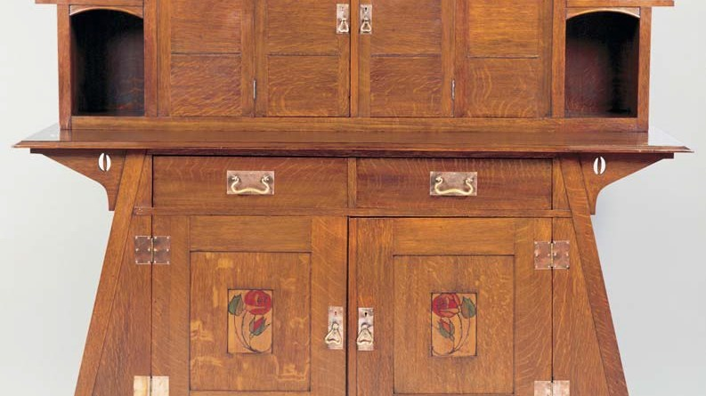 Glasgow School oak sideboard