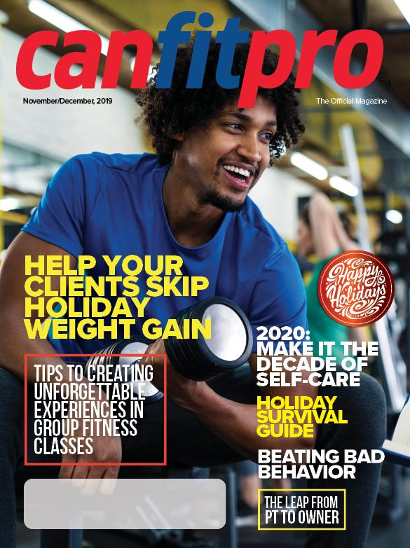 canfitpro Magazine   Nov/Dec 2019 cover