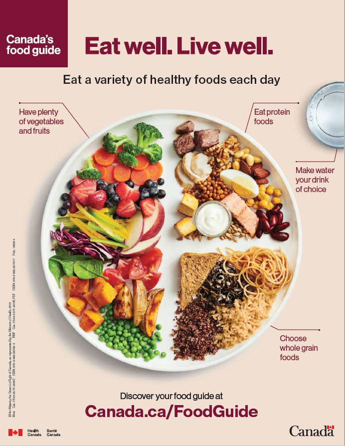 """Champion the Food Guide """"Eat Well Plate"""""""