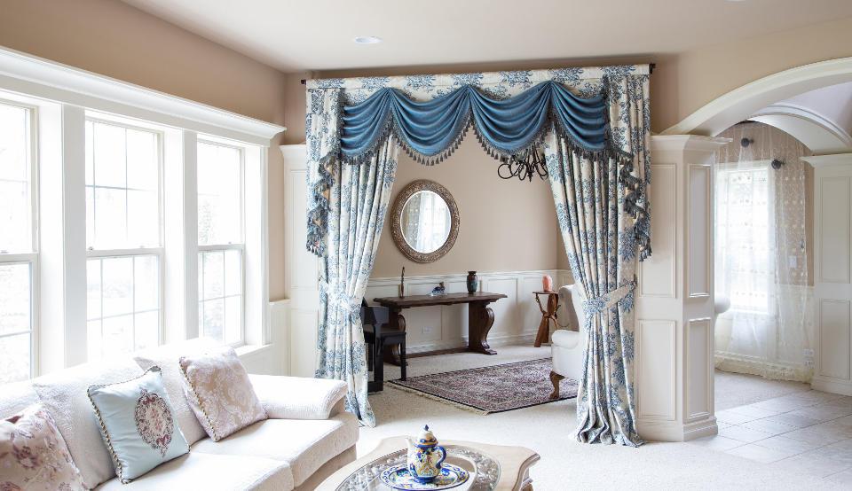 luxury custom curtains swag valances
