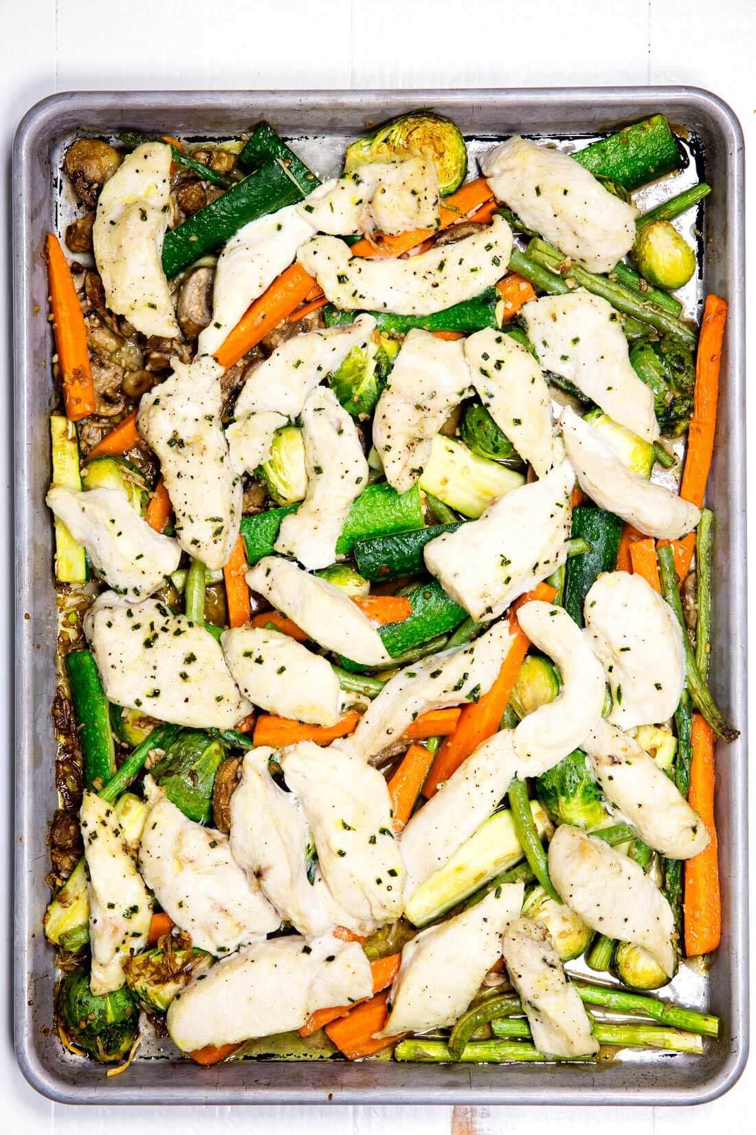 Sheet Pan Garlic Chicken Amp Veggies