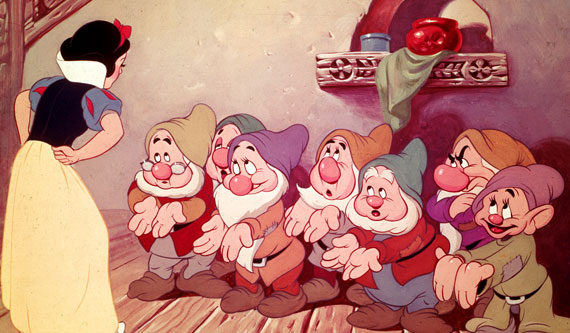 Snow White chastises the short dudes...