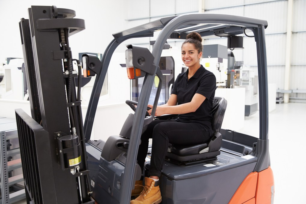 New Forklift Operators Behind the Wheel