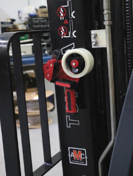 Magnetic Tape Gun On Mast