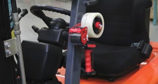 Magnetic Tape Gun On Overhead Guard