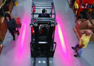 Red forklift LED Warning Lights