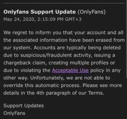 Only Fans support message