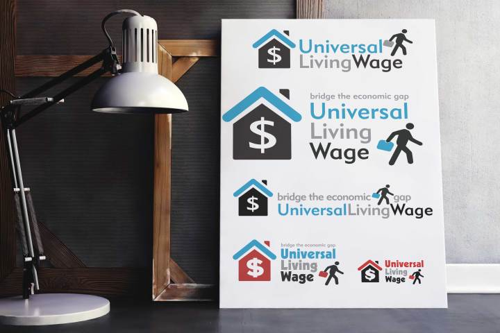 Logo Design Series for Universal Living Wage