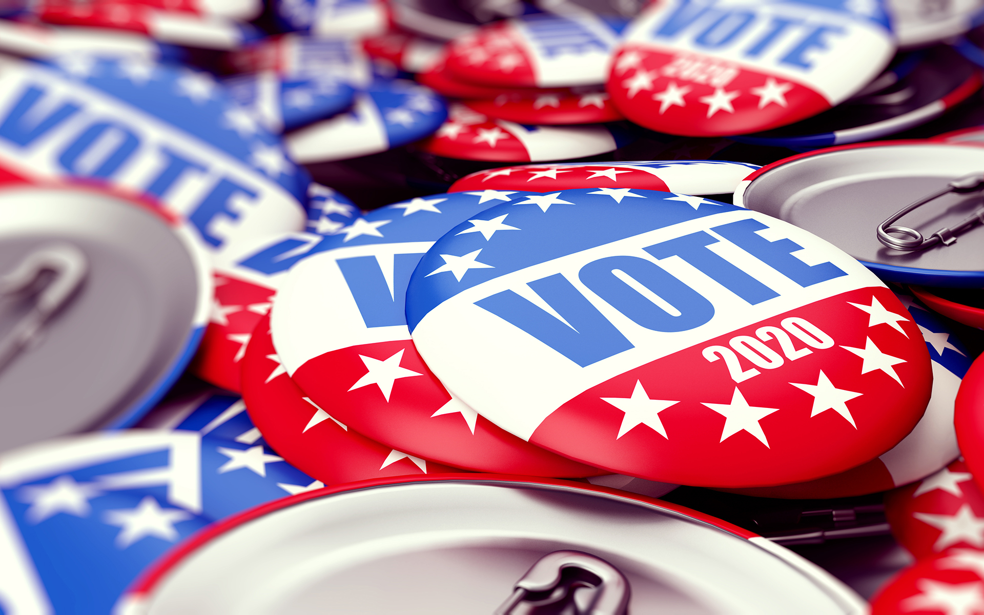 3 Mindful Resources for Election Day - vote election badge button for 2020 background, vote USA 2020, 3D illustration, 3D rendering