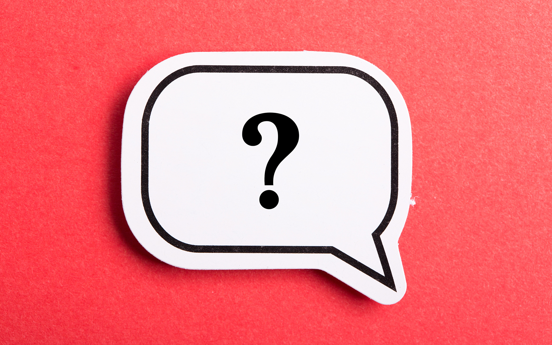 Daily questions for social distancing - Question Mark Speech Bubble Isolated