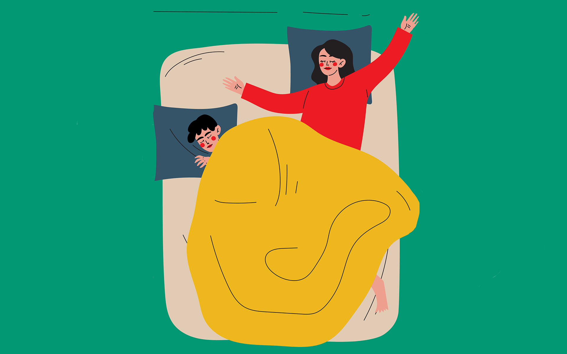 Why Personal Space Is a Good Thing In Marriage - Couple Sleeping in Bed, Husband and Wife Slumbering at Night