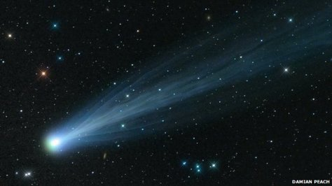A photograph of comet ISON. Image: Damian Peach.
