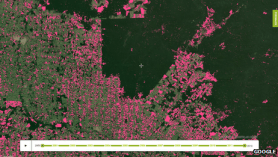 An aerial view of the mapping of the Brazilian Amazon rainforest deforestation.