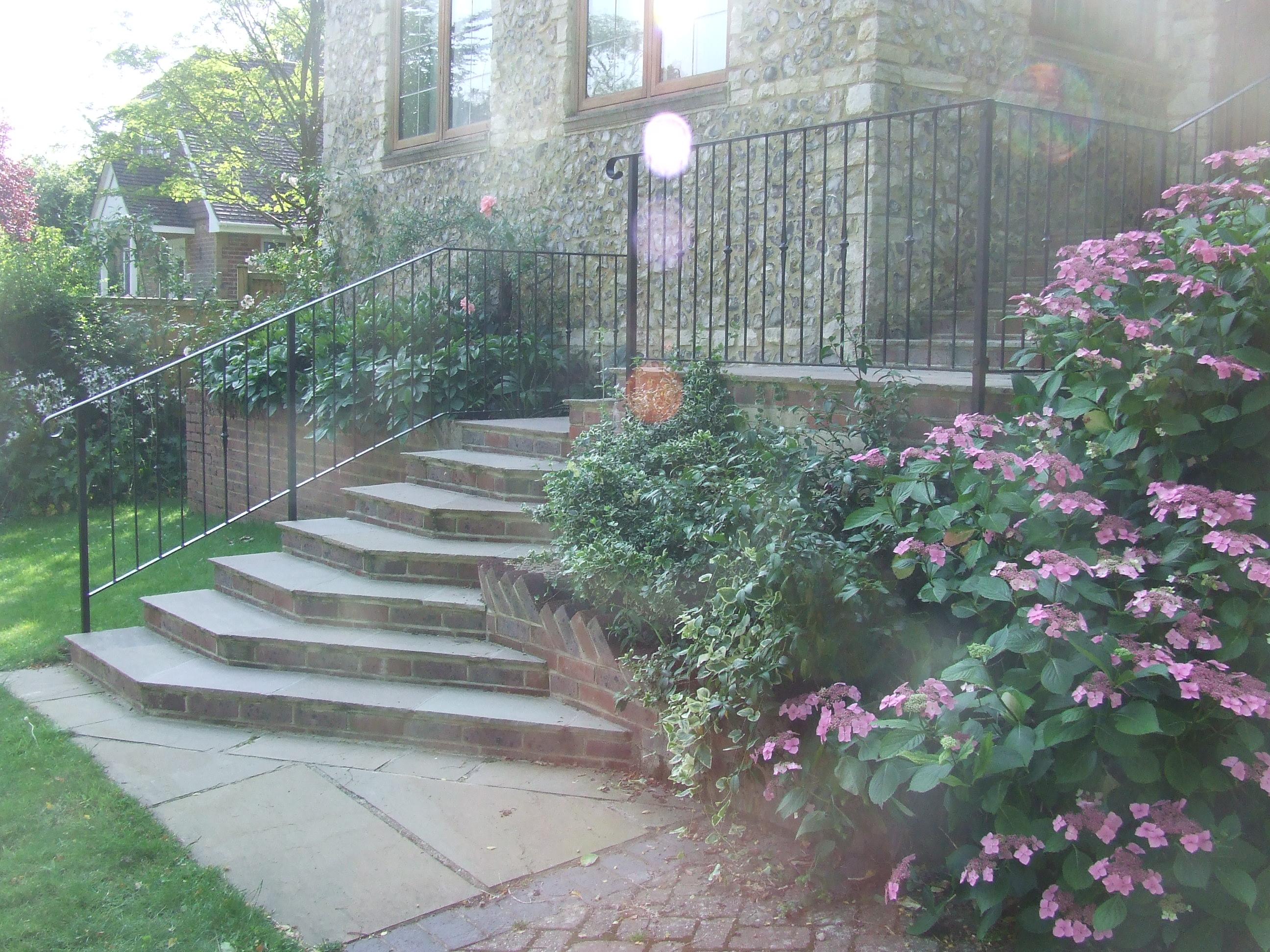 Garden railing and stair hand rail