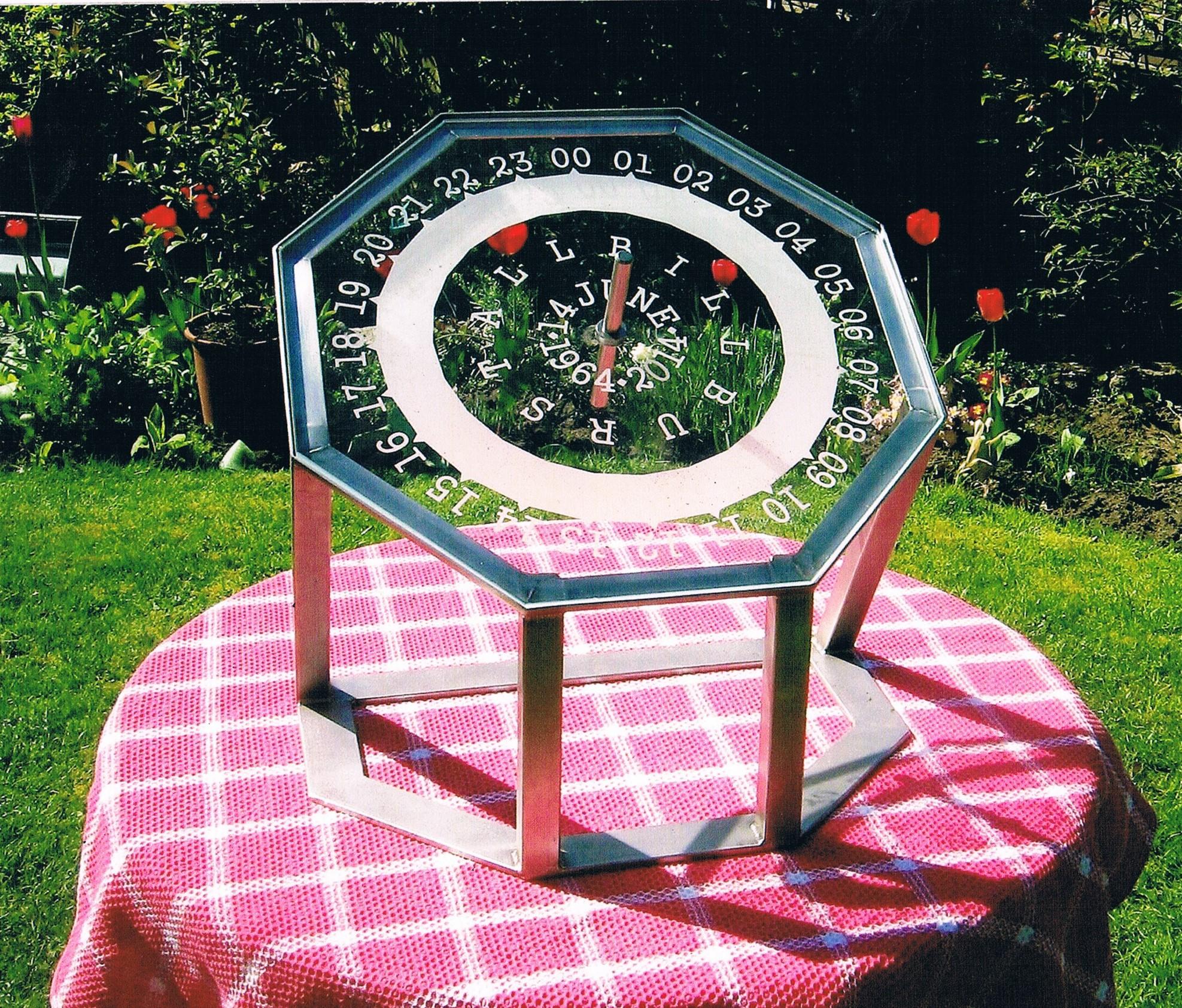 Glass front sundial