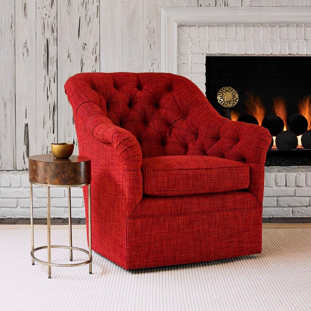 red custom chair ambella