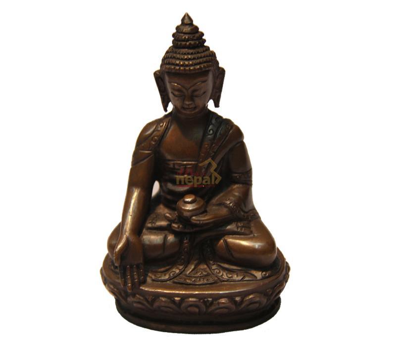buddha statue made through copper