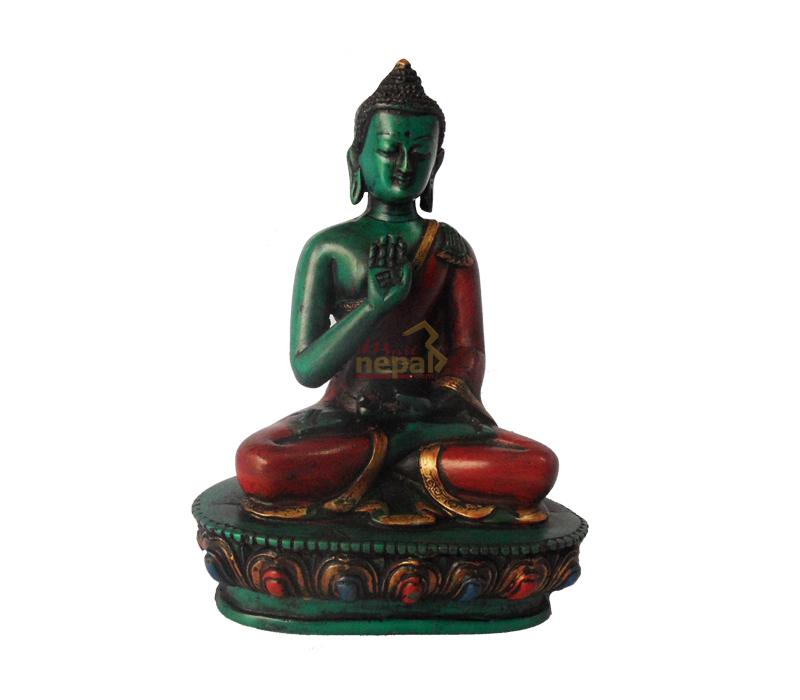 clay made buddha statue