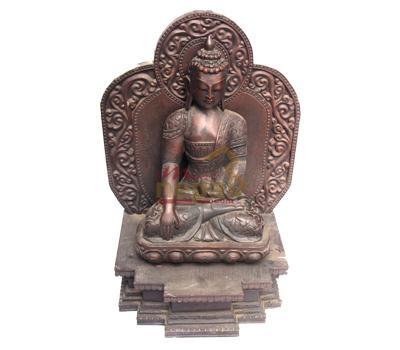 buddha statue made by wood