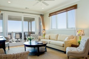 staged coastal living room