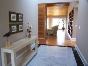 staged foyer